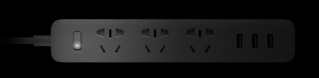 Xiaomi Mi Power Strip 3 Sockets Black надежно защищено от перегрева и короткого замыкания