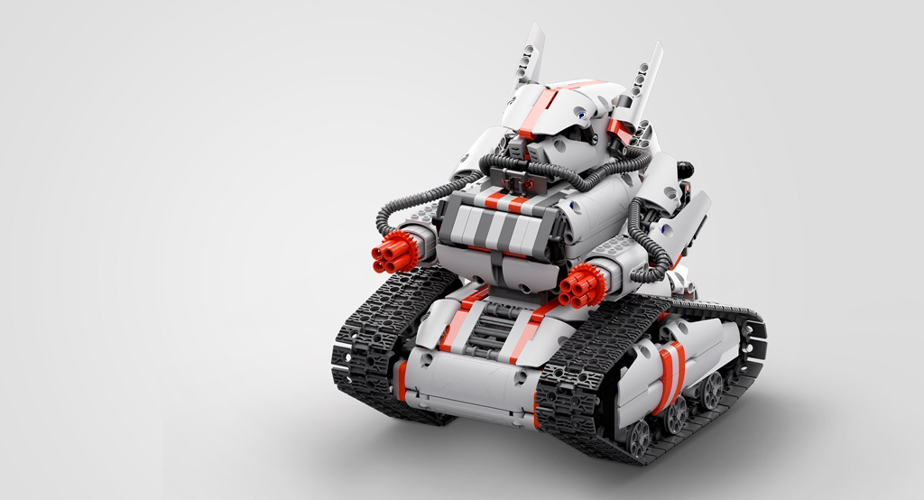 MITU Builder Bunny Block Tracked Tank робот-конструктор со встроенным процессором для дистанционного управления