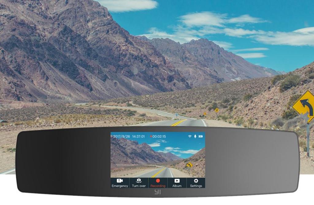 YI Mirror Dash Camera – автомобильный Full HD видеорегистратор