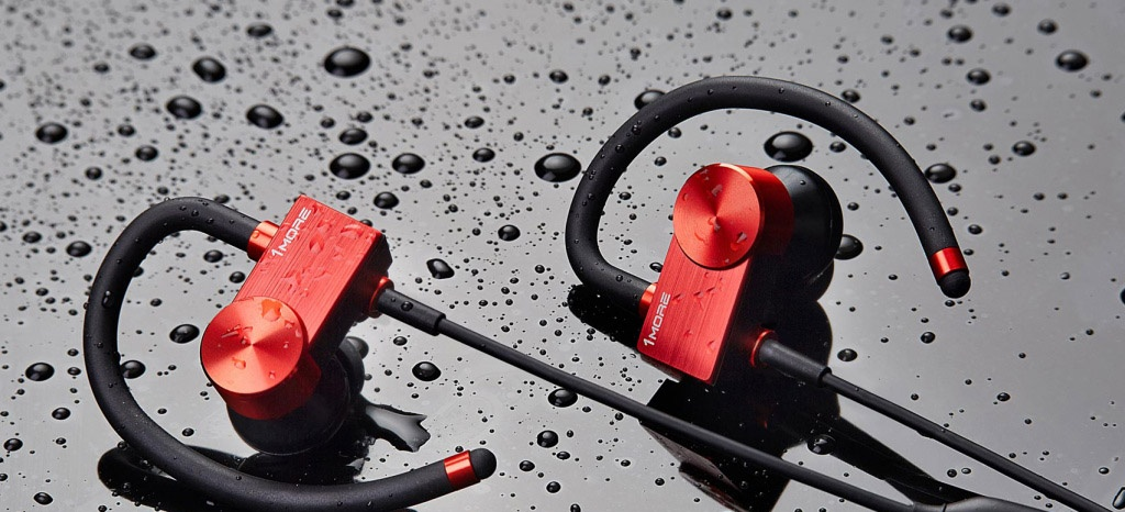 Наушники Xiaomi 1MORE Sports Active EB100 red - Защита от влаги
