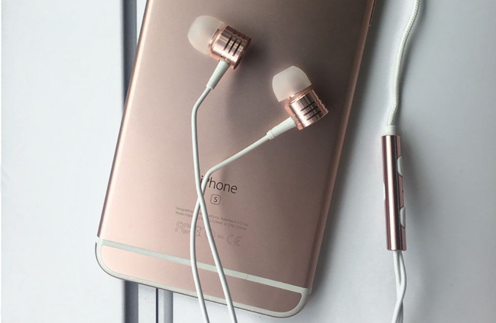 Наушники Xiaomi 1MORE Piston Classic rose gold - Пульт управления