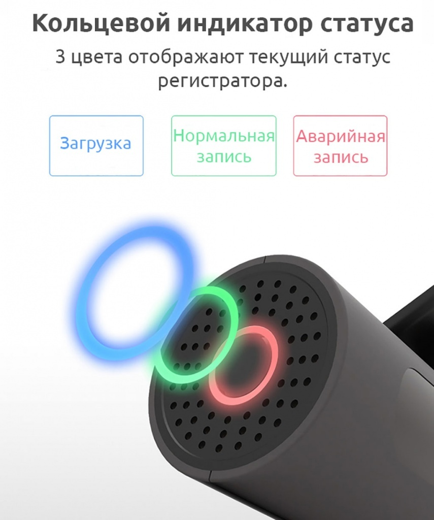 Xiaomi 70 Meters Intelligent Traffic Recorder – индикатор статуса