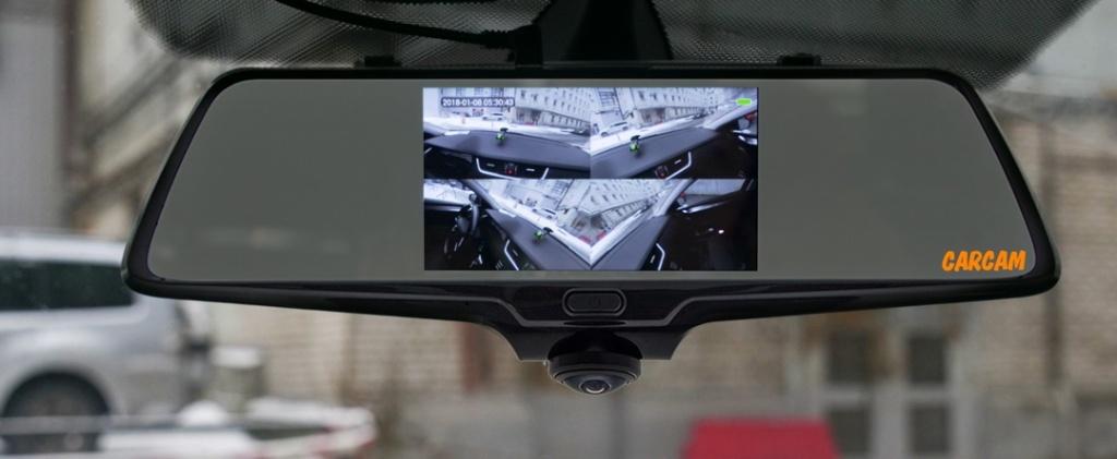 Автомобильный видеорегистратор-зеркало CARCAM Z-360 - Сенсорный дисплей 4.5''