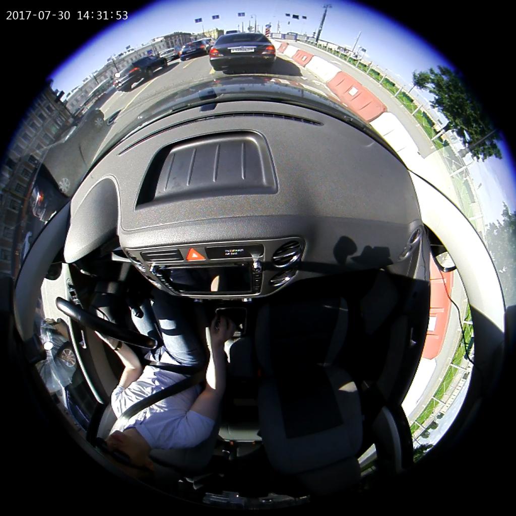 Автомобильный видеорегистратор КАРКАМ А360 - режим записи широкий угол