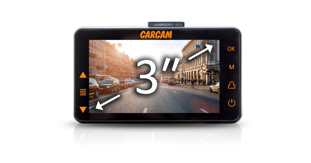 CARCAM D5 оснащен LCD-дисплеем 3″