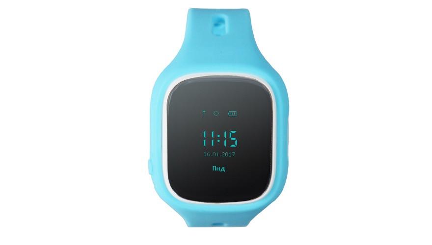 КАРКАМ KIKO (голубые) Детские смарт часы с функцией телефона, GPS-трекера и фитнес браслета
