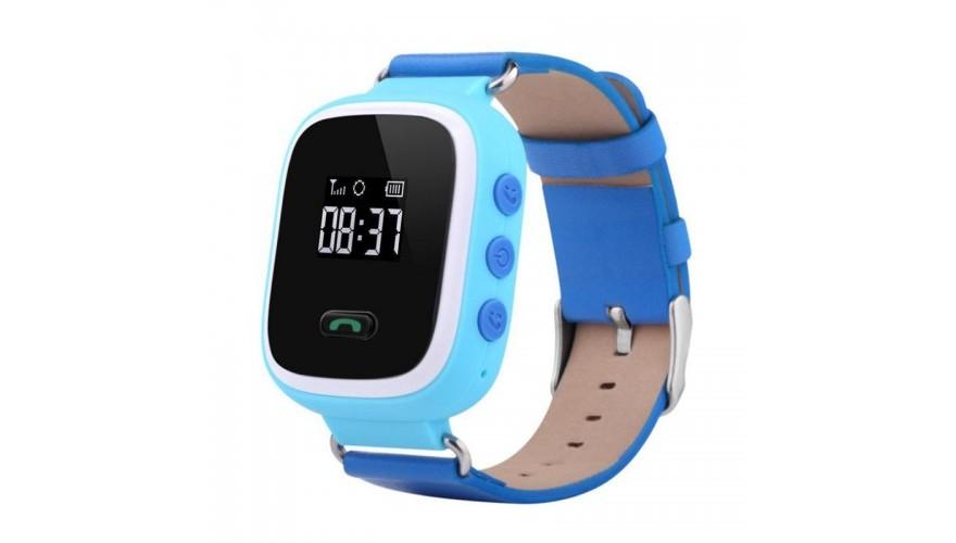 Smart Baby Watch КАРКАМ Q60 голубые Для отслеживания местонахождения, с цветным дисплеем