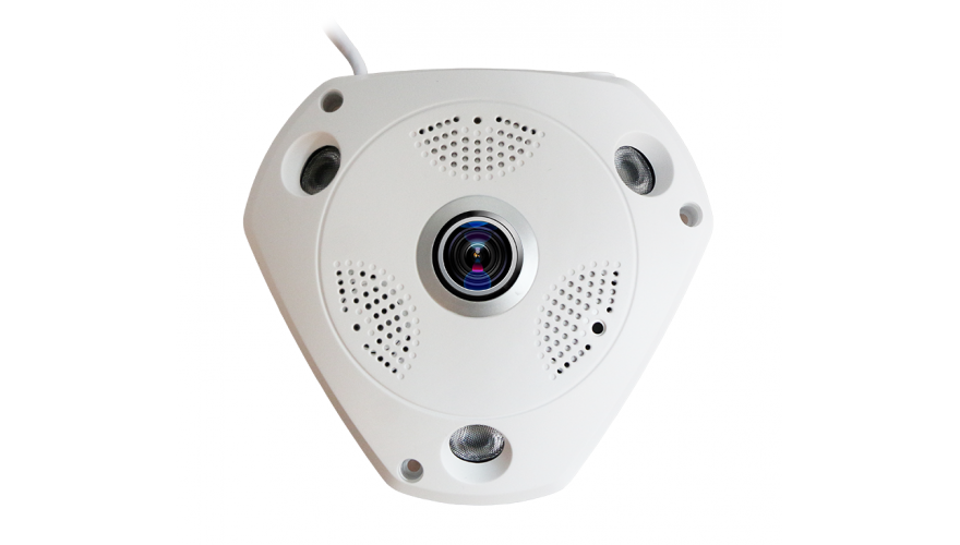 KAPKAM 360VR5 Панорамная Wi-Fi IP камера с высоким QXGA разрешением 1944x1944p и углом обзора 360°