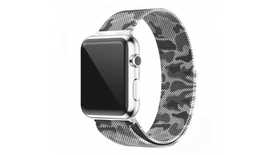 Ремешок для Apple watch 38mm Milanese Loop хаки