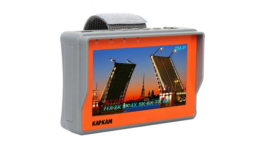 """Видеотестер КАРКАМ для камер наблюдения Analog + AHD Диагональ дисплея 4.3"""""""