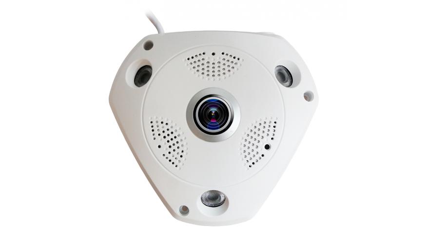 KAPKAM 360VR3 Панорамная Wi-Fi IP камера с высоким QXGA разрешением 1536x1536p и углом обзора 360°