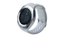 CARCAM SMART WATCH A7 - SILVER, White silicone
